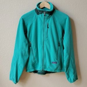 PATAGONIA Green fleece zip up jacket S